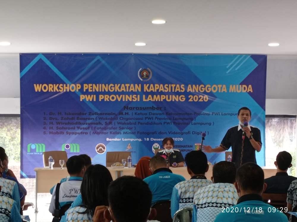 Tingkatkan Kapasitas Anggota Muda, PWI Lampung Gelar Workshop